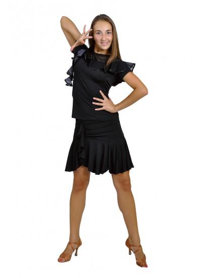 Dance Me Юбка для латины ЮЛ93 женская, масло, черный