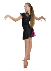 Dance Me Юбка для латины ЮЛ94-3 женская, масло / сетка, розовый