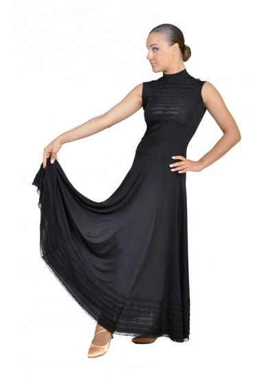 Dance Me Платье женское ПС99, масло / рюша черная, черный