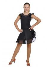 Dance Me Платье детское ПЛ120, масло / сетка, черный