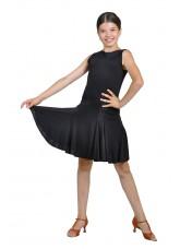 Dance Me Платье детское ПЛ123-3, масло / сетка, черный, серый