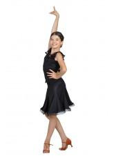 Dance Me Юбка для латины ЮЛ131Кри женская, масло, черный