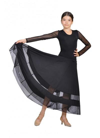 Dance Me Платье детское ПС90, масло / сетка, черный