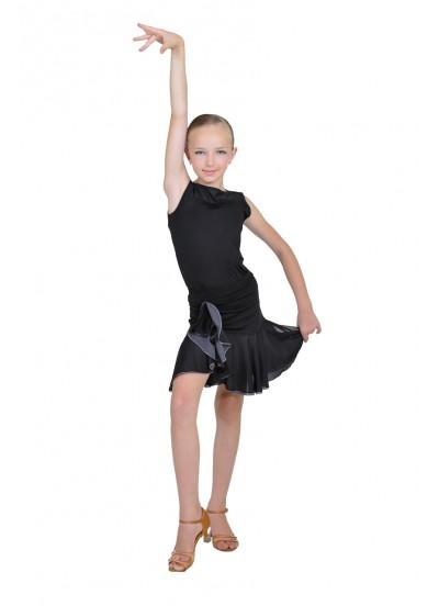 Dance Me Юбка для девочки ЮЛ93-3, масло / сетка, серый