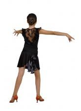Dance Me Юбка для латины ЮЛ94-3 детская, масло / сетка, серый