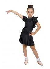 Dance Me Юбка для девочки ЮЛ94, масло / сетка, черный