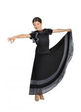 Dance Me Юбка для девочки ЮС100-3, масло / сетка, серый