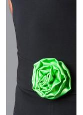 Dance Me Пояс Роза 193 для взрослых, черный, салатовый