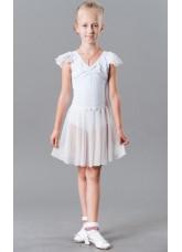 Dance Me Купальник крылышко K229 для девочки, хлопок, белый