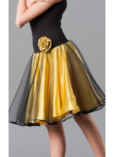 Dance Me Юбка тренировочная для девочки 180, масло / сетка, желтый