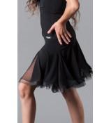 Dance Me Юбка для латины ЮЛ76-СР-14 детская, масло / сетка, черный