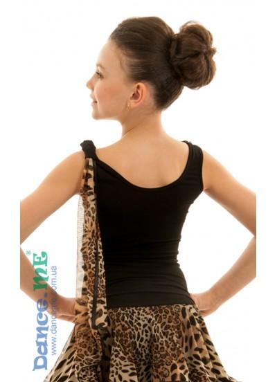 Детская блуза БЛ293-2 для бально-спортивных танцев производства Dance Me