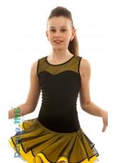 Dance Me Блуза детская БЛ335-5, масло / сетка, черный / желтый