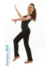 Dance Me Брюки латина детские БРЛ399, масло, черный