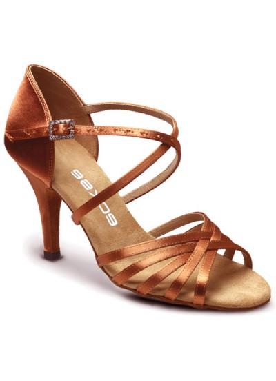 Женские туфли для латины Eckse Кристи-PRO, кедр сатин
