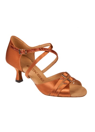 Женские туфли для латины Eckse Лукреция, кедр сатин