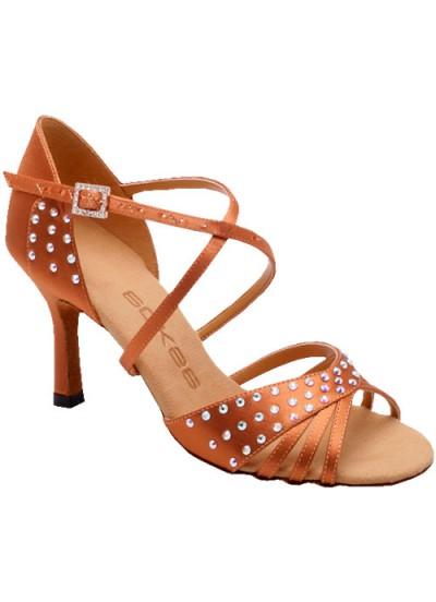 Женские туфли для латины Eckse Патрис, кедр сатин
