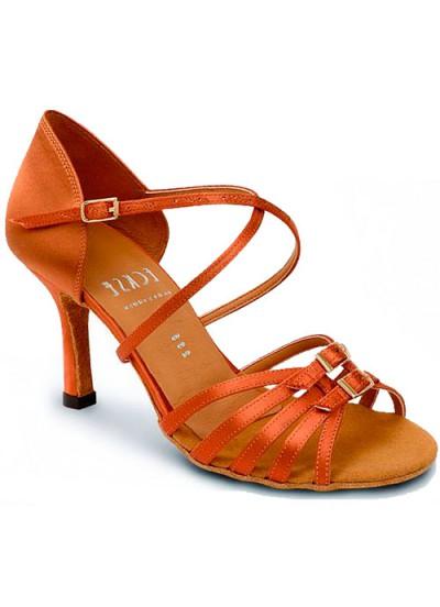 Женские туфли для латины Eckse Виола, кедр сатин