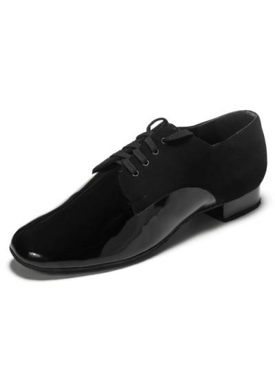 DANCEME SALE Мужская обувь для стандарта 5102, черный лак и нубук.