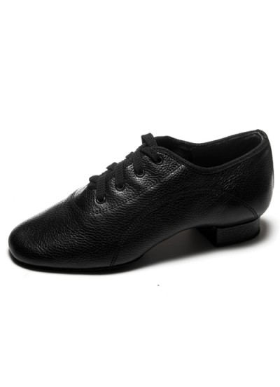 Dance Me Обувь для мальчика Флекси 0203, для стандарта, черная кожа