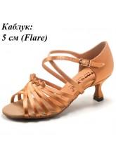 Dance Me Обувь женская для латины 0506, 2-кедр сатин