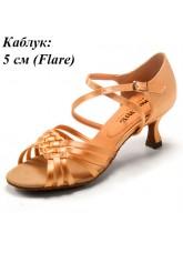 Dance Me Обувь женская для латины 0512, 2-кедр сатин