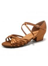 Dance Me Обувь для девочки БК 2033, загар сатин