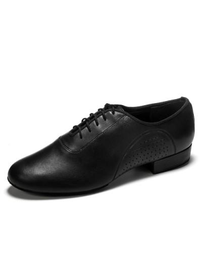 Танцевальная мужская обувь для стандарта Dance Me 36050, черная кожа