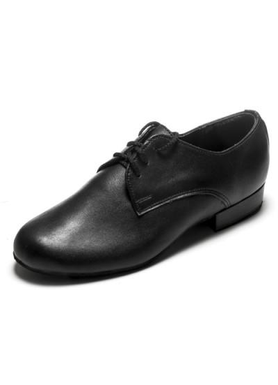 Детская танцевальная обувь для стандарта Dance Me 3160, черная кожа