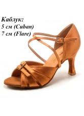 Dance Me Обувь женская для латины 37310, загар сатин