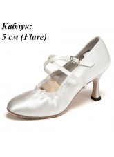 Dance Me Обувь женская для стандарта 501, 7-белый сатин