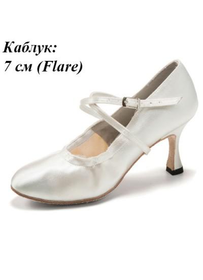 Женская обувь для стандарта 701, белый, сатин