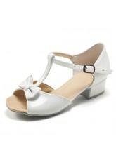 Dance Me Обувь для девочки БК Бантик, лак белый