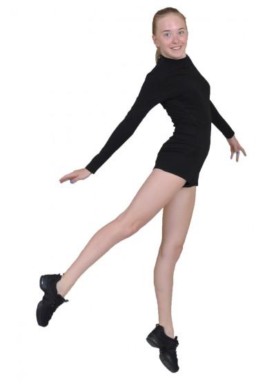 Dance Me Полукомбинезон детский длинный рукав ПДР110-ст-рельеф, хлопок, черный