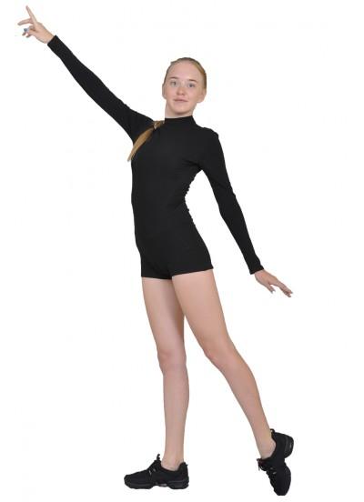 Dance Me Полукомбинезон женский длинный рукав ПДР110-ст-рельеф, хлопок, черный