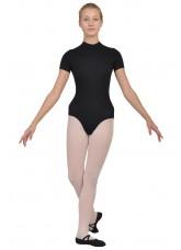 Dance Me Купальник K113KR женский, рукав короткий, воротник стойка,хлопок, черный