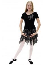 """Dance Me Купальник женский """"Бант"""", рукав короткий, вискоза, черный"""