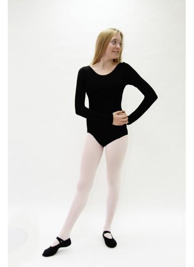 Женский купальник Dance Me длинный рукав K12DR, вискоза, черный