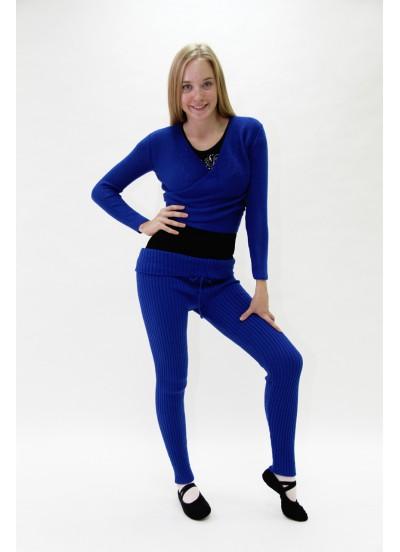 Dance Me Лосины женские, шерсть, синий