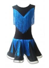Dance Me Юбка для девочки ЮЛ275-Кри, масло / синяя бахрома, черный