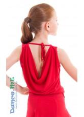 Dance Me Блуза детская БЛ165, масло, красный