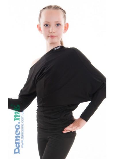 Dance Me Блуза детская БЛ252, вискоза / черный