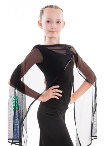 Dance Me Блуза детская БЛ285, масло / сетка черный