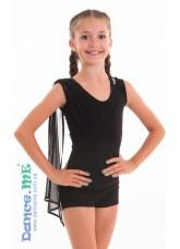 Dance Me Блуза детская БЛ295, масло / сетка черный