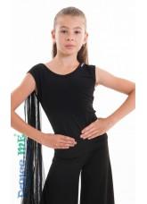 Dance Me Блуза детская БЛ299, масло / сетка черный