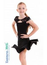 Dance Me Платье детское ПЛ163-11, масло / гипюр, черный