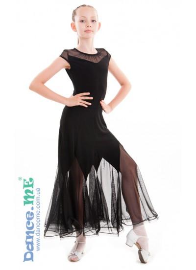 Dance Me Платье детское ПС262, масло / сетка, черный