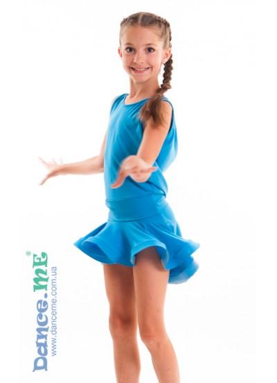 Юбка для латины Dance Me ЮЛ207-Кр детска