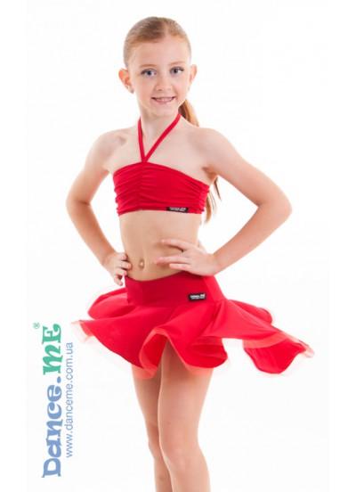 Dance Me Юбка для девочки ЮЛ207-Кр, масло, красный