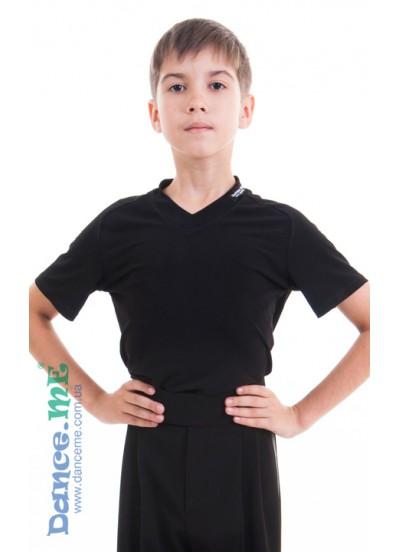 Dance Me Футболка ФКРМ66-Хл детская для мальчиков, хлопок, черный